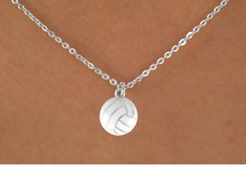 "<Br>            LEAD & NICKEL FREE!!<BR>      W14650N - VOLLEYBALL ON<Br>CHILDREN'S 12"" CHAIN NECKLACE<BR>                   AS LOW AS $3.55"
