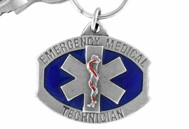 "<Br>                    LEAD & NICKEL FREE!!<Br>     W15148KC - ""EMERGENCY MEDICAL<Br>TECHNICIAN"" PEWTER AND BLUE ENAMEL<Br>                                        KEY CHAIN $1.99"