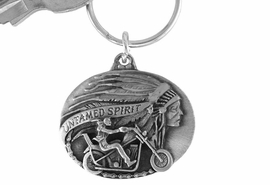 "<Br>             LEAD & NICKEL FREE!!<Br> W15666KC - ""UNTAMED SPIRIT""<Br>PEWTER MOTORCYCLE KEY CHAIN<bR>           FROM $4.50 TO $10.00"