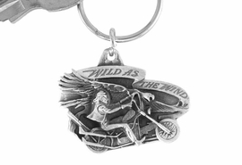 "<Br>              LEAD & NICKEL FREE!!<Br>W15667KC - ""WILD AS THE WIND""<Br> PEWTER MOTORCYCLE KEY CHAIN<bR>             FROM $4.50 TO $10.00"