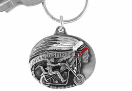 "<Br>                LEAD & NICKEL FREE!!<Br>    W15669KC - ""UNTAMED SPIRIT""<Br>ENAMELED MOTORCYCLE KEY CHAIN<bR>               FROM $4.50 TO $10.00"
