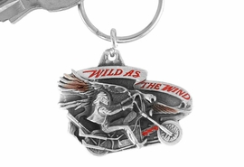 "<Br>                LEAD & NICKEL FREE!!<Br>   W15670KC - ""WILD AS THE WIND""<Br>ENAMELED MOTORCYCLE KEY CHAIN<bR>              FROM $4.50 TO $10.00"