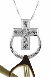 <Br>                      LEAD & NICKEL FREE!!<BR>W15885EH -  ELEGANT AUSTRIAN CRYSTAL<Br>     ACCENTED CROSS EYEGLASS/I.D. TAG<Br>      HOLDER MAGNETIC CLASP PENDANT<Br>                    FROM $4.50 TO $10.00