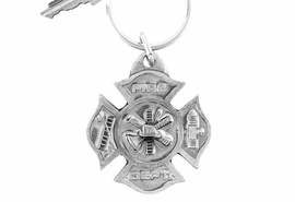 "<Br>             LEAD & NICKEL FREE!!<Br>W15929KC - PEWTER ""FIRE DEPT""<Br>    FIREMAN MALTESE KEY CHAIN<Br>                                 $4.50"