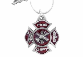 "<Br>           LEAD & NICKEL FREE!!<Br>   W15932KC - RED ENAMELED<Br>     ""FIRE DEPT"" MALTESE KEY <Br>  CHAIN FROM $10.00 TO $4.85"