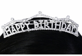 "<Br>                LEAD & NICKEL FREE!!<Br>      W15941T - ""HAPPY BIRTHDAY""<Br>       MARQUEE AUSTRIAN CRYSTAL<Br>TIARA COMB FROM $9.75 TO $18.00"