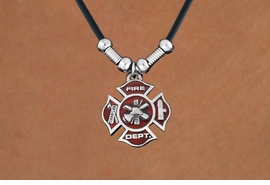 <Br>              LEAD & NICKEL FREE!!<Br> W16383N - FIREMAN'S MALTESE<Br>       CROSS PENDANT NECKLACE <Br>           FROM $5.63 TO $12.50