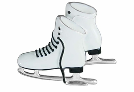 <Br>         LEAD & NICKEL FREE!!<BR>W16570P - WHITE ICE SKATES<Br>    PIN FROM $5.63 TO $12.50
