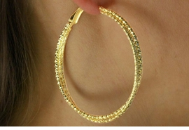 <bR>   LEAD & NICKEL FREE!!<BR>W16830E - GOLD FINISH<Br>TRIPLE-HOOP EARRINGS<Br>    FROM $3.35 TO $7.50