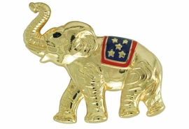 <Br>                LEAD & NICKEL FREE!!<Br>W17475P - GOLD TONE REPUBLICAN<BR>        PARTY PATRIOTIC ELEPHANT<BR>        PIN FROM $5.63 TO $12.50