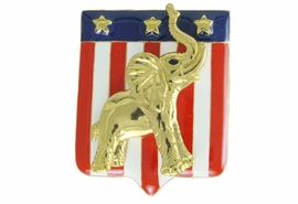 <Br>                LEAD & NICKEL FREE!!<Br>W17476P - GOLD TONE REPUBLICAN<BR>        PARTY PATRIOTIC ELEPHANT<BR>        PIN FROM $5.63 TO $12.50