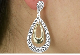 <Br>                   LEAD & NICKEL FREE!!<Br>W17934E - TWO TONE WOVEN PRINT<Br>        EARRING FROM $3.35 TO $7.50