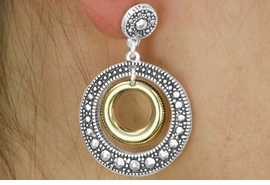 <Br>                LEAD & NICKEL FREE!!<Br>    W17936E - TWO TONE MARCASITE <Br> ACCENT EARRINGS FROM $3.35 TO $7.50