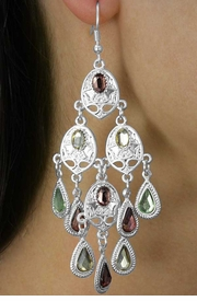 <Br>                 LEAD & NICKEL FREE!!<Br>    W18039EA - 2-COLOR DANGLE<Br>     TEARDROP FACETED STONE EARRING <Br> ASSORTMENT FROM $9.00 TO $20.00