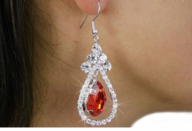 <BR>                LEAD & NICKEL FREE!!<Br>       W18253E - GENUINE AUSTRIAN <Br>        CRYSTAL TEAR DROP EARRINGS<BR>                FROM $2.81 TO $6.25