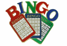 "<Br>           LEAD & NICKEL FREE!!<Br>W18288P - COLORFUL ""BINGO""<Br>      PIN FROM $5.63 to $12.50"