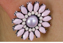 <Br>         LEAD & NICKEL FREE!!<BR>W18340E - PINK FACETED DAISY <BR> EARRING FROM $4.50 TO $10.00