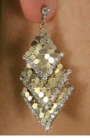 <Br>                  LEAD & NICKEL FREE!!<Br>       W18528E - GOLD TONE MESH <Br>       AND AUSTRIAN CRYSTAL EARRINGS <BR>                FROM $5.63 TO $12.50