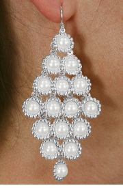 <Br>                LEAD & NICKEL FREE!!<Br>W18545E - BEAUTIFUL CHANDELIER<Br>         FAUX PEARL DROP EARRINGS<Br>             FROM $5.06 TO $11.25