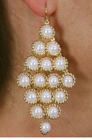 <Br>                LEAD & NICKEL FREE!!<Br>W18546E - BEAUTIFUL CHANDELIER<Br>         FAUX PEARL DROP EARRINGS<Br>             FROM $5.06 TO $11.25