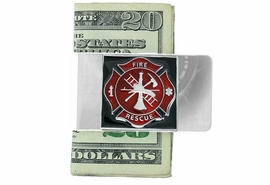 <Br>                LEAD & NICKEL FREE!!<Br>    W18955MC - SILVER TONE FIRE<Br>        FIGHTERS MONEY CLIP FROM<bR>                      $5.63 TO $12.50