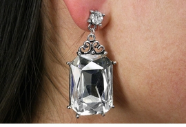 <BR>                LEAD & NICKEL FREE!!<Br>  W19015E - VINTAGE STYLE GENUINE  <Br>    AUSTRIAN CRYSTAL RECTANGULAR <BR>    EARRINGS FROM $4.50 TO $10.00