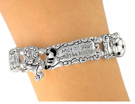 "<Br>             LEAD & NICKEL FREE!!<Br>    W5520B - ""GUARDIAN ANGEL""<bR>SOCCER PANORAMIC PHRASE TILE<bR>         STRETCH BRACELET FROM<bR>                    $7.31 TO $16.25"