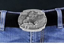 <Br> MADE IN THE USA, LEAD & NICKEL FREE!!<Br>    W17307BK - 2008 COMMEMORATIVE<Br>       AMERICAN FIREFIGHTER PEWTER <Br>                   BELT BUCKLE  $13.50