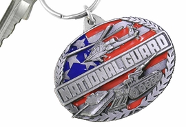 "<Br>              NATIONAL GUARD KEY CHAINS <BR>                        LEAD & NICKEL FREE!! <Br>            W20509KC - ""NATIONAL GUARD"" <Br> PEWTER, RED AND BLUE ENAMEL KEY CHAIN <Br>               FROM $4.73 TO $10.50 �2013"