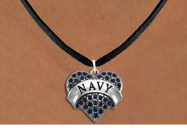 "<BR>      NAVY BLUE NECKLACE  WHOLESALE  <bR>                   EXCLUSIVELY OURS!! <Br>              AN ALLAN ROBIN DESIGN!! <BR>     CLICK HERE TO SEE 1000+ EXCITING <BR>           CHANGES THAT YOU CAN MAKE! <BR>        LEAD, NICKEL & CADMIUM FREE!! <BR> W1479SN - SILVER TONE ""NAVY"" NAVY <BR>     CRYSTAL HEART CHARM AND NECKLACE <BR>            FROM $5.55 TO $9.00 �2013"