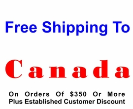 <bR>          NEW CUSTOMER WILL RECEIVE 25% <BR>               DISCOUNT  NO FREE SHIPPING.<BR>          ESTABLISHED CUSTOMER RECEIVES<BR>            %  DISCOUNT  AND FREE SHIPPING <BR>                     IF ORDER IS OVER $350US