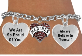 "<BR>                                            "" MARINES, THE FEW, THE PROUD "" <BR>                            ADJUSTABLE HEART CHARM BRACELET WHOLESALE <bR>                    W21507B - THE NEW WAY TO EXPRESS LOVE, MOTIVATION,<BR>             POSITIVE, AFFIRMATIVE EXPRESSIONS, THAT WILL GO PERFECTLY<br>           WITH ANOTHER POSITIVE AFFIRMATION CHARM IF YOU WANT  ONE,<BR>      MORE CHOICES LOOK BELOW,  CHARM BRACELET FROM $9.73 TO $14.58<BR>                                       CostumeJewelryWholesale.com �2014"
