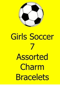<BR>        W260BA GIRLS SOCCER<BR>               7  ASSORTED<BR>          CHARM BRACELETS