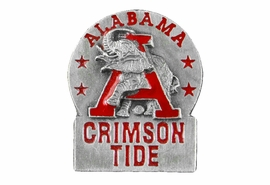 "<Br> OFFICIAL COLLEGIATE LAPEL PIN <BR>               LEAD & NICKEL FREE!! <Br> W20620P - PEWTER UNIVERSITY OF ALABAMA <Br>  ""CRIMSON TIDE"" DETAILED LAPEL PIN <Br>          FROM $3.94 TO $8.75 �2013"