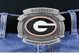 "<Br>OFFICIALLY LICENSED COLLEGE!!<Br>     W16884BK - UNIVERSITY OF<Br>    GEORGIA ""BULLDOGS"" LOGO<Br>               BELT BUCKLE FROM<Br>                                  $6.99"