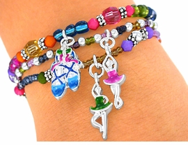 "<br>      S2146B - NEW! ""LEAD FREE"" CHILDREN'S<BR>BALLET TRIPLE-BRACELET SET AS LOW AS $4.16"