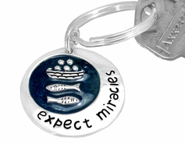 "S2212KC - INSPIRATIONAL NEW!<Br> ""EXPECT MIRACLES"" KEYCHAIN<BR>              FROM $2.55 TO $6.25"