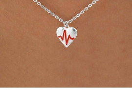 """<BR>                  CHILDREN'S 12"""" ADJUSTABLE NECKLACE """"THE PERFECT GIFT"""",<BR>                               """"Your Love Makes My Heart Beat"""","""" I Love You"""", Or<BR>                                  In Recognition Of """"Children's Heart Disease""""<BR>                           """" HEARTBEAT """" SMALL CHAIN ADJUSTABLE NECKLACE<BR>                                     AN ORIGINAL ALLAN ROBIN CUSTOM DESIGN<br>                                                   WHOLESALE CHARM NECKLACE <BR>                                                 LEAD, CADMIUM & NICKEL FREE!!  <BR>             W21600N-SMALL CHAIN, BRIGHT SILVER TONE ADJUSTABLE NECKLACE <BR>                         FITS 12"""" TO 15""""  FROM $5.60 TO $9.85 EACH! ©2015"""