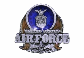 "<Br>               U.S. AIRFORCE LAPEL PIN <BR>                  LEAD & NICKEL FREE!! <Br>  W20510P - ""UNITED STATES AIR FORCE"" <Br> PEWTER, GOLD AND BLUE ENAMEL TACK PIN <Br>         FROM $3.35 TO $7.50 �2013"