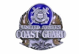 "<Br>             U.S. COAST GUARD LAPEL PIN <BR>                    LEAD & NICKEL FREE!! <Br>  W20511P - ""UNITED STATES COAST GUARD"" <Br> PEWTER, GOLD AND BLUE ENAMEL TACK PIN <Br>         FROM $3.35 TO $7.50 �2013"