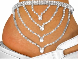 W10852N - 4-STRAND DRAPING CHAIN<Br>   AUSTRIAN CRYSTAL MULTI PURPOSE<br>         CHOKER FROM $14.75 TO $25.00