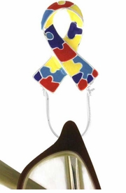 <br>   W12316EH - AUTISM AWARENESS<Br>RIBBON EYEGLASS/I.D. TAG HOLDER<bR>            PIN FROM $2.25 TO $5.00<BR>                               ©2005