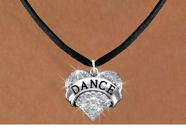 "<BR>      WHOLESALE DANCE NECKLACE<bR>                   EXCLUSIVELY OURS!! <Br>              AN ALLAN ROBIN DESIGN!! <BR>     CLICK HERE TO SEE 1000+ EXCITING <BR>           CHANGES THAT YOU CAN MAKE! <BR>        LEAD, NICKEL & CADMIUM FREE!! <BR>  W1414SN - SILVER TONE ""DANCE"" CLEAR <BR>     CRYSTAL HEART CHARM AND NECKLACE <BR>            FROM $5.55 TO $9.00 �2013"