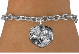 <BR>   WHOLESALE FASHION ANIMAL JEWELRY <bR>                 EXCLUSIVELY OURS!! <Br>            AN ALLAN ROBIN DESIGN!! <BR>   CLICK HERE TO SEE 1000+ EXCITING <BR>         CHANGES THAT YOU CAN MAKE! <BR>      LEAD, NICKEL & CADMIUM FREE!! <BR> W1512SB - ANTIQUED SILVER TONE AND <BR> CLEAR CRYSTAL HORSE AND FOAL CHARM <BR> BRACELET FROM $5.50 TO $9.35 �2013