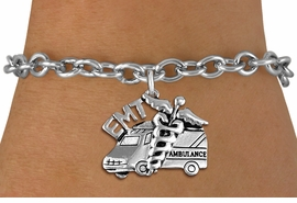 <br>      WHOLESALE EMT FASHION BRACELET <bR>                    EXCLUSIVELY OURS!!<BR>               AN ALLAN ROBIN DESIGN!!<BR>      CLICK HERE TO SEE 1000+ EXCITING<BR>            CHANGES THAT YOU CAN MAKE!<BR>         CADMIUM, LEAD & NICKEL FREE!!<BR>     W1530SB - DETAILED SILVER TONE <Br>EMT AMBULANCE CHARM & BRACELET <BR>             FROM $4.50 TO $8.35 �2013