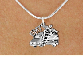 <br>        WHOLESALE EMT COSTUME JEWELRY <bR>                   EXCLUSIVELY OURS!! <BR>              AN ALLAN ROBIN DESIGN!! <BR>     CLICK HERE TO SEE 1000+ EXCITING <BR>           CHANGES THAT YOU CAN MAKE! <BR>        CADMIUM, LEAD & NICKEL FREE!! <BR>     W1530SN - DETAILED SILVER TONE <BR>EMT AMBULANCE CHARM & NECKLACE <BR>             FROM $4.85 TO $8.30 �2013