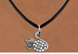 <BR>   WHOLESALE ANIMAL FASHION JEWELRY <bR>                     EXCLUSIVELY OURS!! <Br>                AN ALLAN ROBIN DESIGN!! <BR>       CLICK HERE TO SEE 1000+ EXCITING <BR>             CHANGES THAT YOU CAN MAKE! <BR>          LEAD, NICKEL & CADMIUM FREE!! <BR>     W1536SN - ANTIQUED SILVER TONE AND <BR>AURORA BOREALIS CRYSTAL SWAN CHARM <BR>      NECKLACE FROM $5.90 TO $9.35 �2013