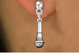 <br>     WHOLESALE FASHION CHARM EARRINGS <bR>                 EXCLUSIVELY OURS!! <BR>            AN ALLAN ROBIN DESIGN!! <BR>      CADMIUM, LEAD & NICKEL FREE!! <BR>    W1554SE - DETAILED 3D SILVER TONE <Br>MICROPHONE CHARM EARRINGS <BR>          FROM $3.65 TO $8.40 �2014