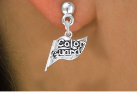 "<br>     WHOLESALE FASHION CHARM EARRINGS <bR>                 EXCLUSIVELY OURS!! <BR>            AN ALLAN ROBIN DESIGN!! <BR>      CADMIUM, LEAD & NICKEL FREE!! <BR>    W1555SE - DETAILED SILVER TONE <Br>""COLOR GUARD"" FLAG CHARM EARRINGS <BR>          FROM $3.65 TO $8.40 �2014"