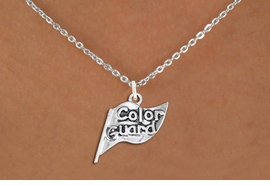 "<br>      WHOLESALE FASHION CHARM JEWELRY <bR>                   EXCLUSIVELY OURS!! <BR>         AN ALLAN ROBIN DESIGN!! <BR>   CLICK HERE TO SEE 1000+ EXCITING <BR>      CHANGES THAT YOU CAN MAKE! <BR>        CADMIUM, LEAD & NICKEL FREE!! <BR>  W1555SN - DETAILED 3D SILVER TONE <BR>""COLOR GUARD"" FLAG CHARM & NECKLACE <BR>             FROM $4.85 TO $8.30 �2014"